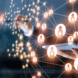 business-woman-drawing-global-structure-networking-data-exchanges-customer-connection_34200-270